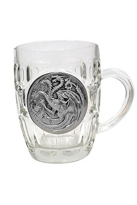 Imagen de Juego de Tronos Jarra de cerveza Targaryen Metallic Logo