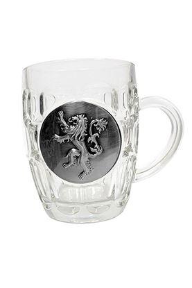 Imagen de Juego de Tronos Jarra de cerveza Lannister Metallic Logo