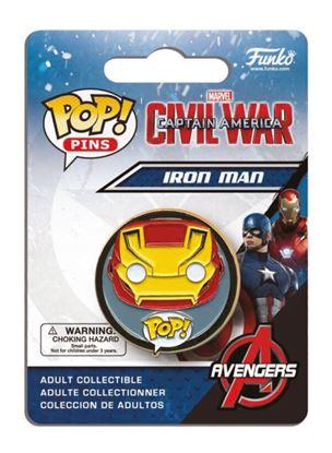 Imagen de Captain America Civil War POP! Pins Chapa Iron Man