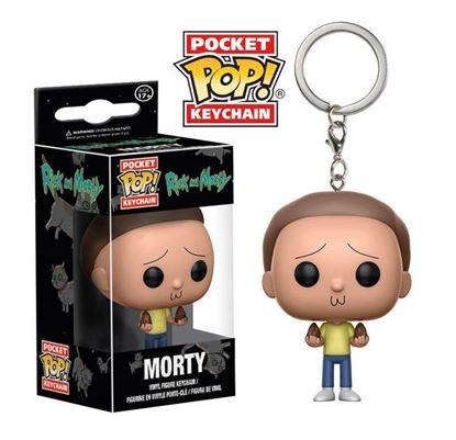 Imagen de Rick y Morty Llavero Pocket POP! Vinyl Morty 4 cm