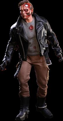 Imagen de Terminator Figura Movie Masterpiece 1/6 T-800 Battle Damaged