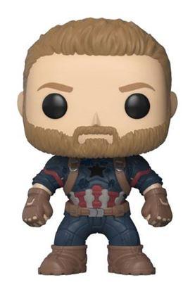 Imagen de Avengers Infinity War Figura POP! Movies Vinyl Captain America 9 cm