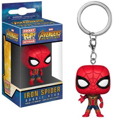 Imagen de Avengers Infinity War Llavero Pocket POP! Vinyl Iron Spider 4 cm