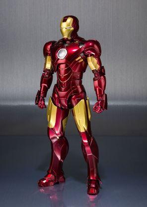 Imagen de Iron Man 2 Figura S.H. Figuarts Iron Man Mark IV & Hall of Armor Set Tamashii Web EX 14 cm