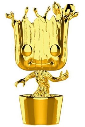 Imagen de Marvel Studios 10 POP! Marvel Vinyl Figura Groot (Chrome) 9 cm