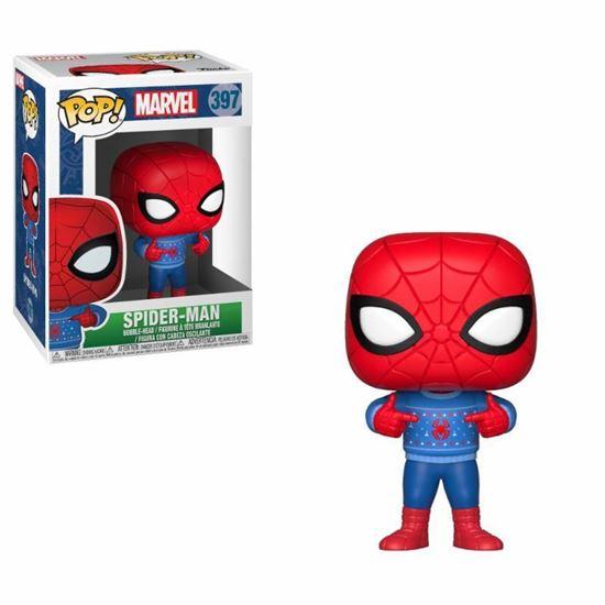 Foto de Marvel Comics POP! Marvel Holiday Navidad Vinyl Cabezón Spider-Man (Ugly Sweater) 9 cm