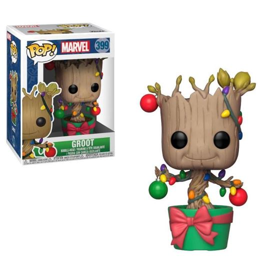 Foto de Marvel Comics POP! Marvel Holiday Navidad Vinyl Cabezón Groot (Lights & Ornaments) 9 cm